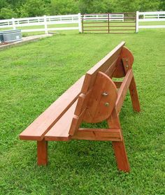 Free plans for a convertible bench/table