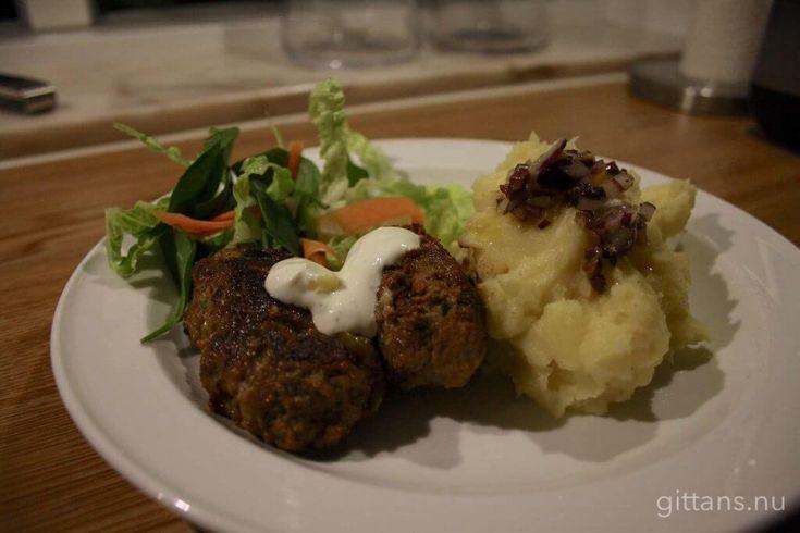 Cevapcici med potatismos och olivröra – Gittans