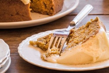 Spiced pumpkin cake with vanilla butter icing from  Bite by Kathy Paterson