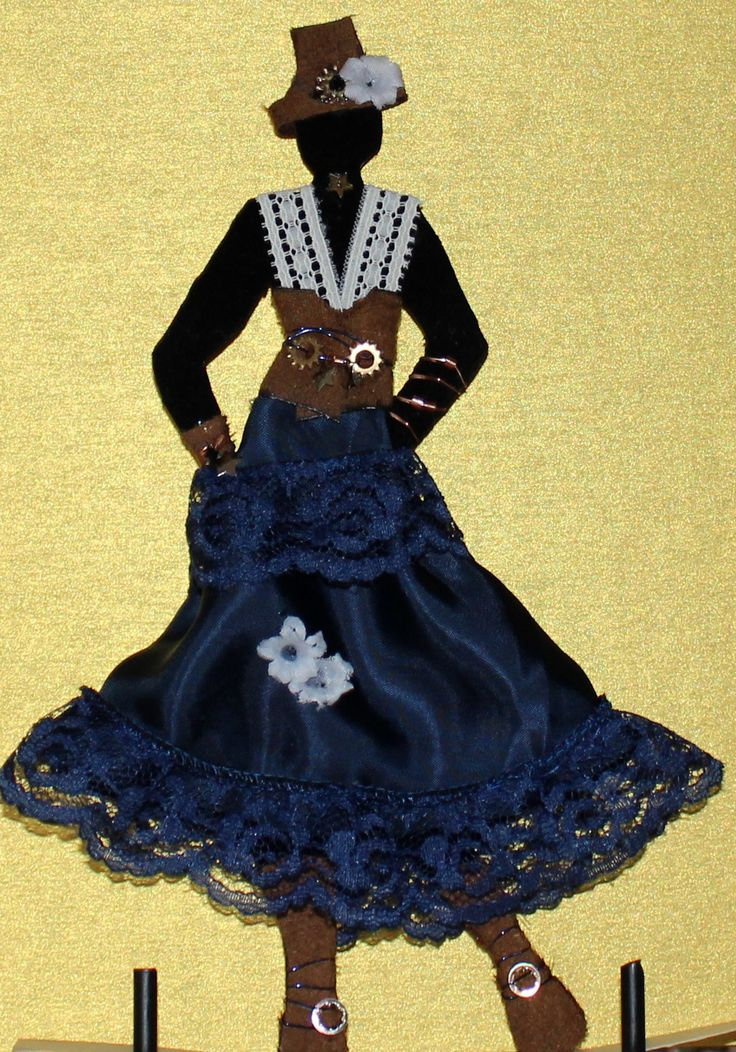 Fanny Is Made Of Chipboard With A Black Velvet Covering Her Suede Hat Vest Name GeneratorCabbage
