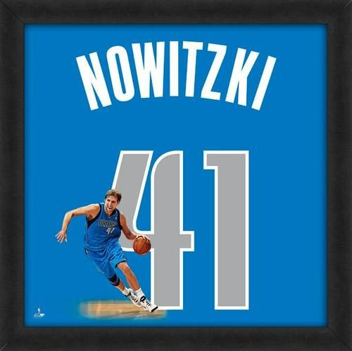 Dirk Nowitzki Framed Dallas Mavericks 20x20 Jersey Photo