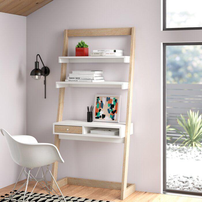 Blitar 1 Drawer Ladder Desk Reviews Allmodern Ladder Desk Leaning Ladder Desk Office Furniture Modern