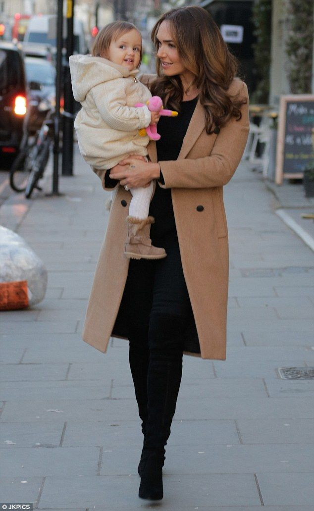 Seasonal style: Tamara Ecclestone made a chic trip to her local hair salon in West London ...