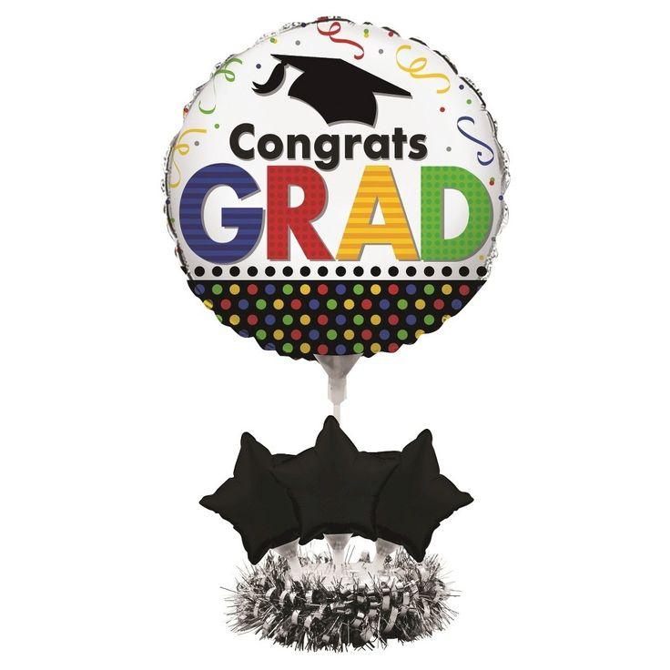 Creative Converting Multicolor Congrats Grad Ballon Centerpiece