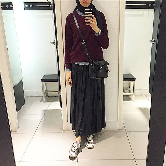 College look | hijab | Elif Dogan