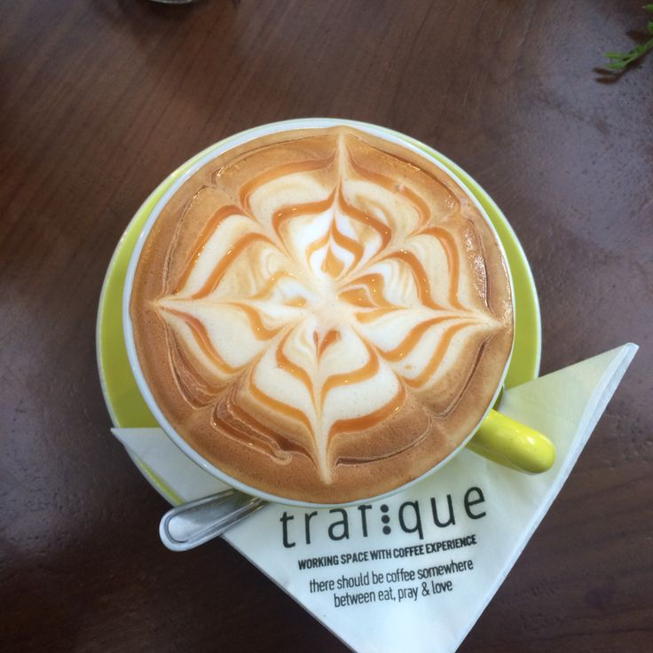 Caramel macchiato from Trafique Coffee made my day☕️