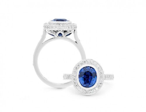 Colour Change Sapphire And Diamond Ring : Rohan Jewellery