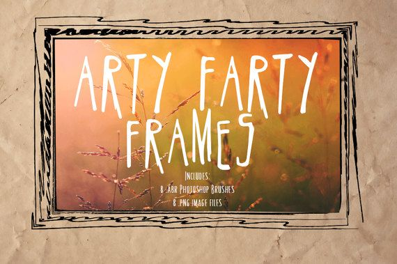 These 8 fabulous Arty Farty Grunge Frames and Photoshop Brushes are a wonderful way of accenting messy, dirty, boy photos or even giving a urban grunge edge to girl and teen photos. Each Arty Farty Frame is large in size for maximum usage options, perfect for all those grungy layouts! Included is a black .png version of each Arty Farty Frame and the .abr Photoshop brush set.  Includes:  8 Arty Farty Frames (.pngs) 8 Arty Farty Frames Photoshop Brushes (.abr) (max 2500pixels) 8 Full Size Arty…