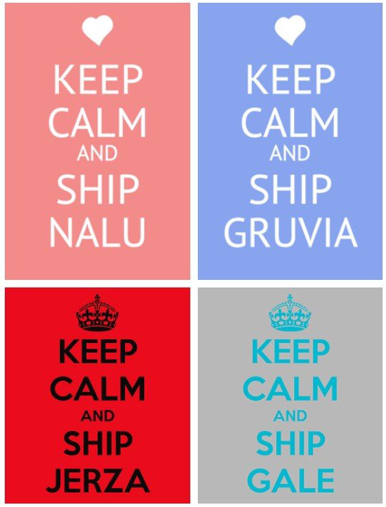 I ship them all!! <3 ship nalu, gruvia, jerza, gale