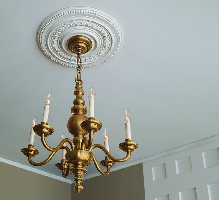 How to Install Ceiling Medallions | Heathered Nest | Rule ...