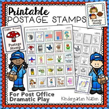 Versatile image for printable postage stamps