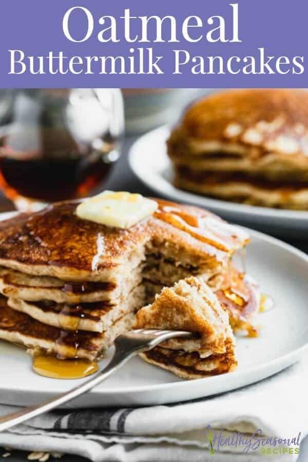 Oatmeal Pancakes In 2020 Oatmeal Pancakes Oatmeal Buttermilk Pancakes Buttermilk Pancakes