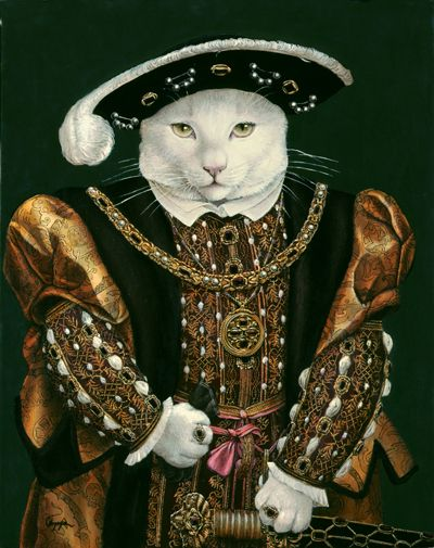 "Melinda Copper ""Bubba VIII"" (original painting, Henry VIII by Hans Holbein the Younger)"