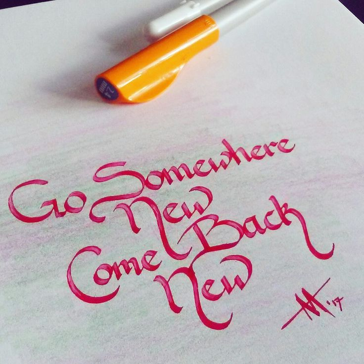 Go somewhere new, come back new... If you come back! 😎 // #newness #adventure #lifelessons #calligraphy #calligrapher #moderncalligraphy #teamscribebynight #lettering #handlettering #fonts #writing #handwriting #quote #quotes #inkandnib #ink #artemisarthur #justwriteit #keepwriting #keepwritingalive #penmanship #motivation  #inspiration #philosophy #wisdom #art #artist #pilotparallelpen
