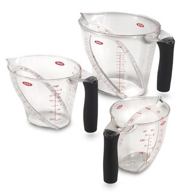 Wedding Registry idea: Oxo Good Grips Angled Measuring Cups (Set of 3). but the pampered chef version of course ;)