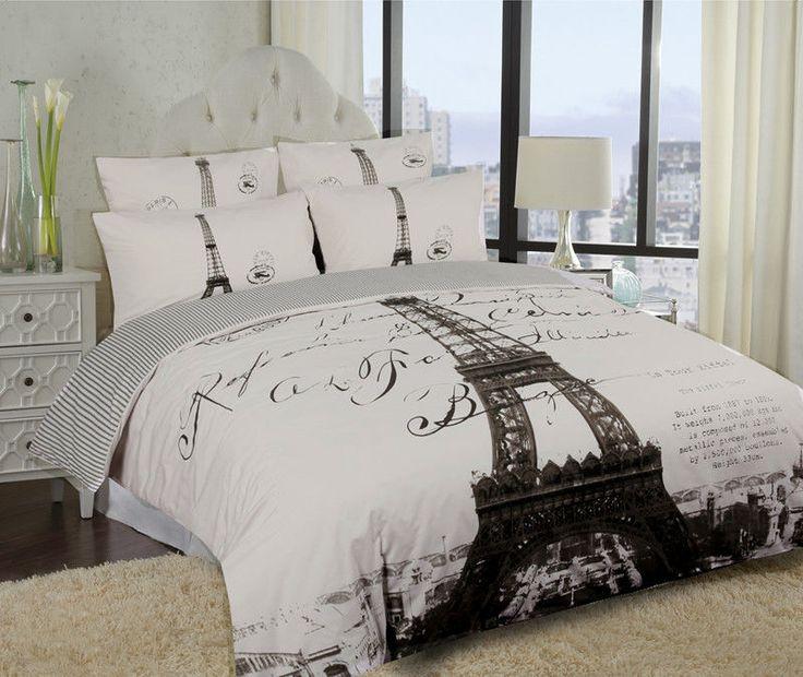 Elegant Paris Eiffel Tower Bedding Twin Full X2f Queen Duvet