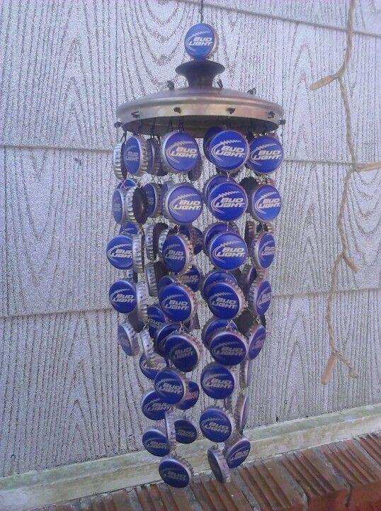 Bottle Cap Windchime Crafts Diy Wind Chimes