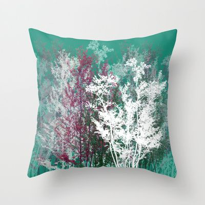 Forest Throw Pillow by Babiole Design - $20.00