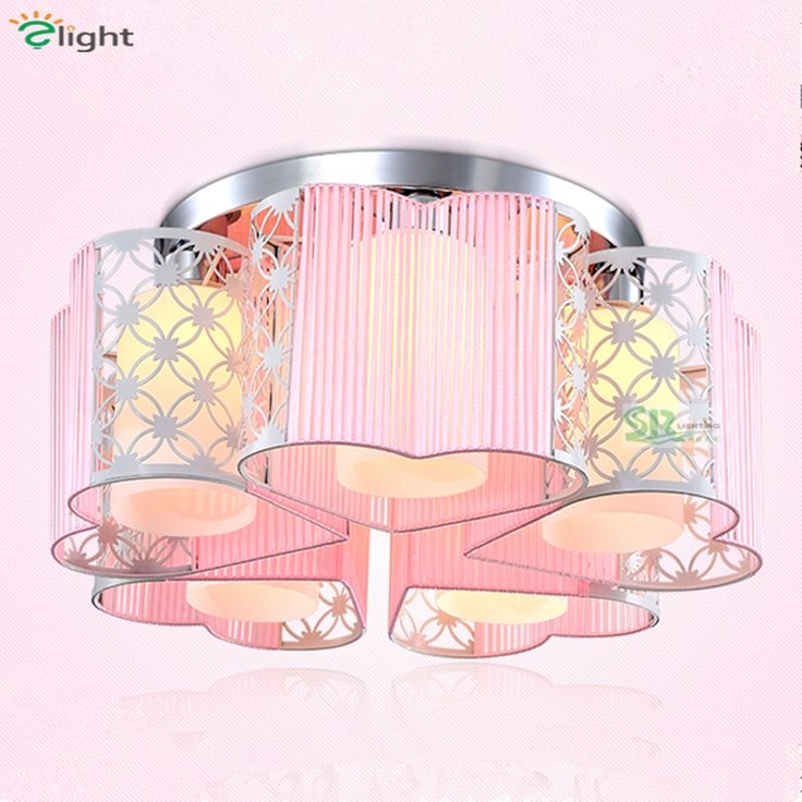 (67.52$)  Watch now - http://aic6g.worlditems.win/all/product.php?id=32706411845 - 2016 Modern Brief Romantic Painted Iron Fabric Ceiling Led Chandelier Pink Purple 3 Heads 5 Heads E27 Chandelier For Bedroom