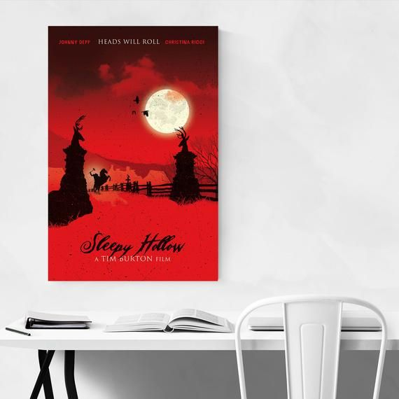Sleepy Hollow Poster, Sleepy Hollow Print, Movie Posters, Movie Wall Art, Minimalist Art, Minimalist