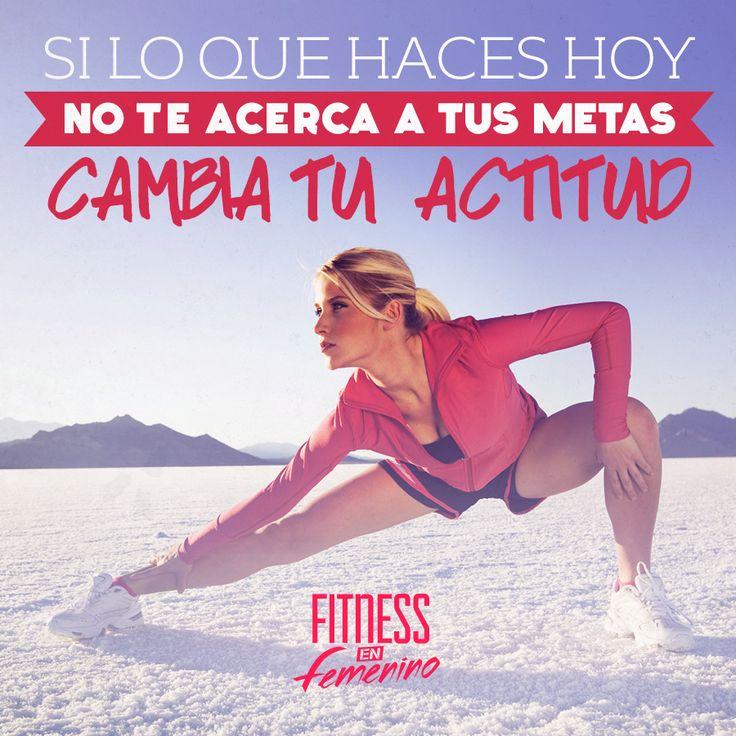 Si lo que haces hoy no te acerca a tus metas cambia tu actitud. #fitness #woman #girl #motivation #gym #gimnasia #gimnasio #mujeres #mujer #community #chicasfitness #ejercicio