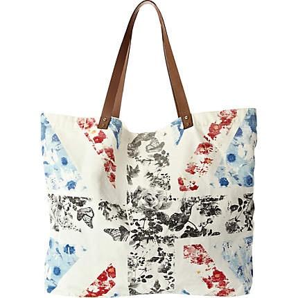 white union jack print shopper bag - shopper / tote bags - bags / purses - women - River Island