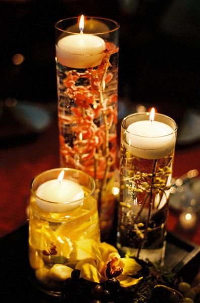 autumn wedding idea: Floating Candles, Floral Design, Wedding Ideas, Wedding Decor, Autumn Wedding, Centerpieces, Fall Wedding