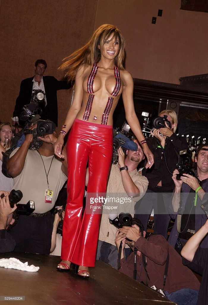 (Original Caption) Actress Tracy Bingham representing the Body Jewelry collectin 'Fire Flies Skin Art' which took place in the Sunset Room, Hollywood. (Photo by Frank Trapper/Corbis via Getty Images)