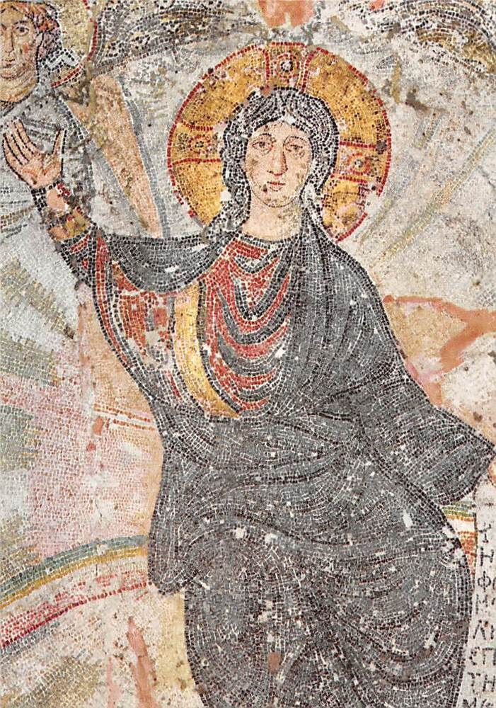 Greece Thessaloniki From Hosios David Mosaic of Christ
