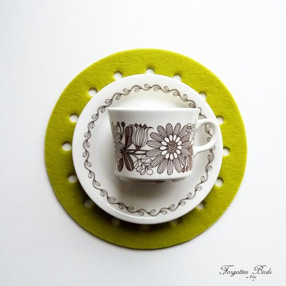 Arabia Tea / Coffee Cup and Saucer Elina Designed