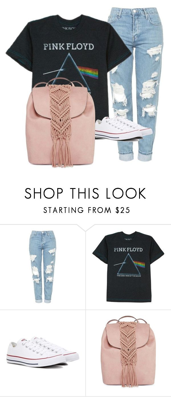 """""""Pink Floyd concert"""" by halle-williams ❤ liked on Polyvore featuring Topshop, Floyd, Converse and T-shirt & Jeans"""
