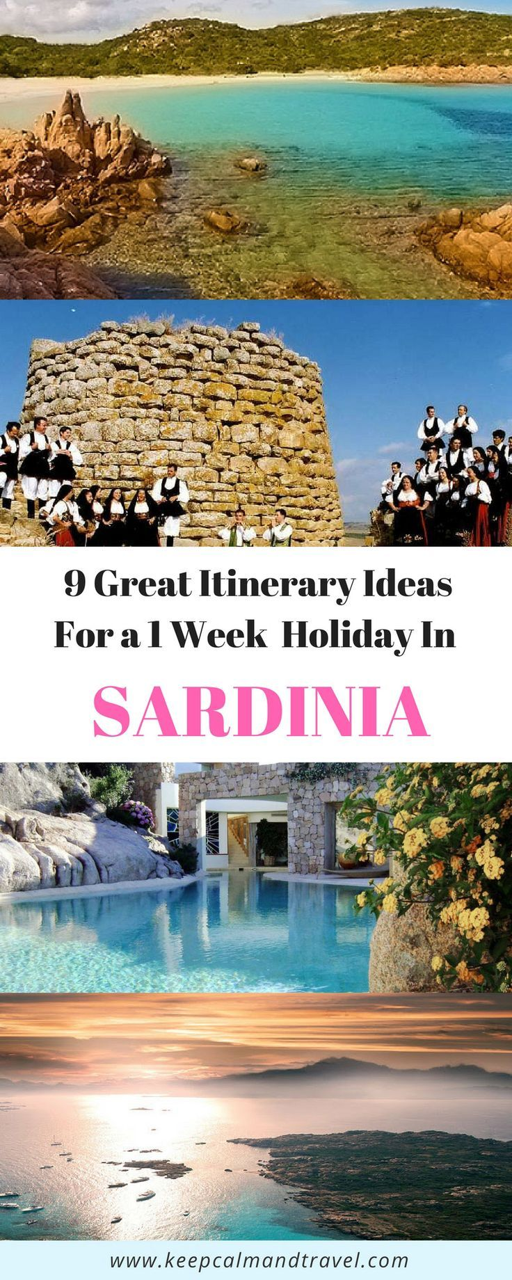Nine Super detailed Sardinia Itineraries: Ready to go with maps, places you can't miss, how to get there, where to eat and much more!  #Sardinia #sardegna #italy #europe #vacation #holidays #travelitinerary #traveltips #travelideas #beaches #beach #sea #snorkeling