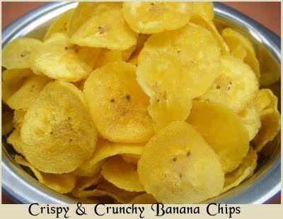 Homemade Banana Chips~Happy Krishnashtami!!