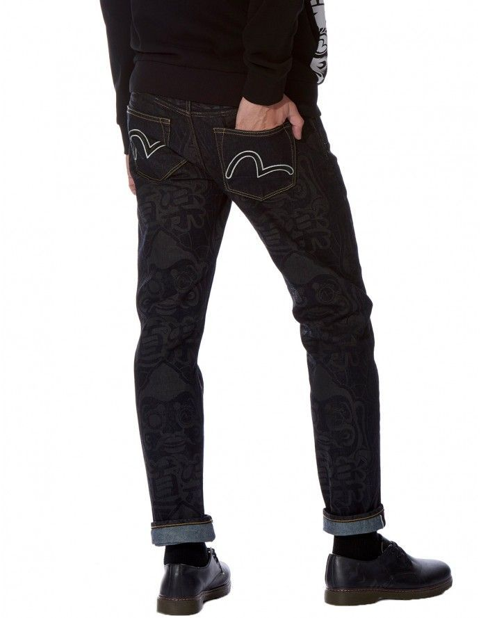 ad18832a225c EVISU - Refresh your casual wardrobe with these slim-fitting jeans from  EVISU. The indigo pair is rinse-washed