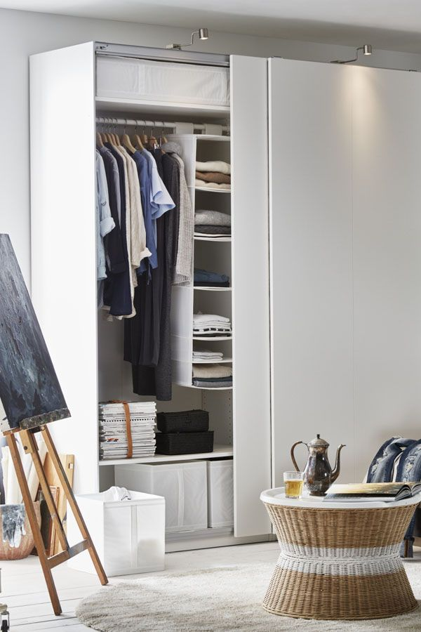 With IKEA PAX fitted wardrobes, you choose it all - the size, color and style! Add KOMPLEMENT interior fittings inside so that every shoe, shirt and scarf has its place!