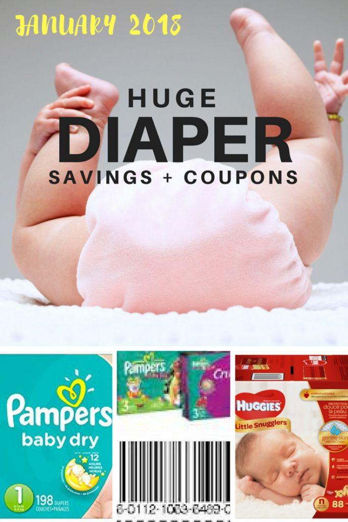2018 diaper deals! There are some really great savings right now for Huggies and Pampers diapers. Shop smart by buying in bulk and clipping coupons!