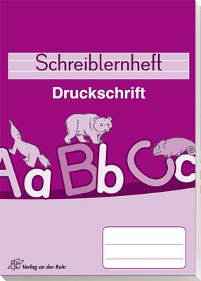 Schreiblernheft - Druckschrift | Deutschunterricht ...