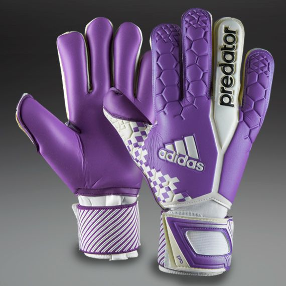 adidas Goalkeeper Gloves - adidas Predator Pro IC Iker Casillas - Goalkeeping - Goalie Gloves - White-Blast Purple-Black