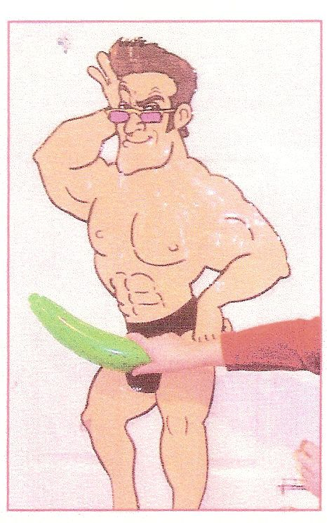 Bachelorette Party Game Idea: Pin the Privates on the Hunk   The adult version of Pin the Tail on the Donkey. You will need   A poster of the hunk of your choice. Draw or paint (or download pics from www.missbehaviour.co.za/hen_party_ideas.html) colourful willies for each of your guests.   Place a drawing pin through the top of each willy picture; or simply add a blob of prestick to the back.  A blindfold.  A prize for the guest who pins the privates in the most accurate place.