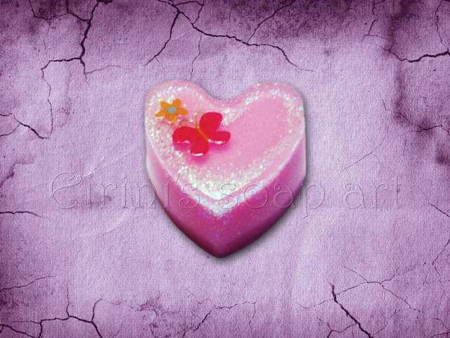 Heart with butterfly soap