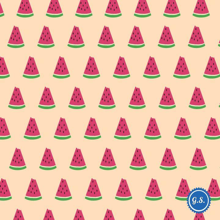 Watermelon Pattern giannissofianakos.tumblr.com #pattern #graphic_design