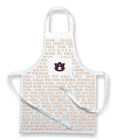 Loving this Auburn Tigers Fight Song Apron on #zulily! #zulilyfinds