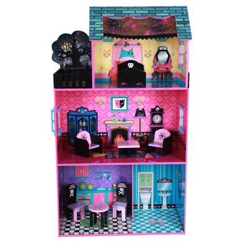 Teamson Kids Haunted Doll House with Furniture