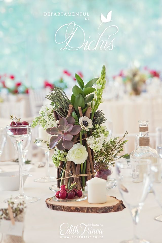 Beautiful centerpiece from our latest wedding this month.