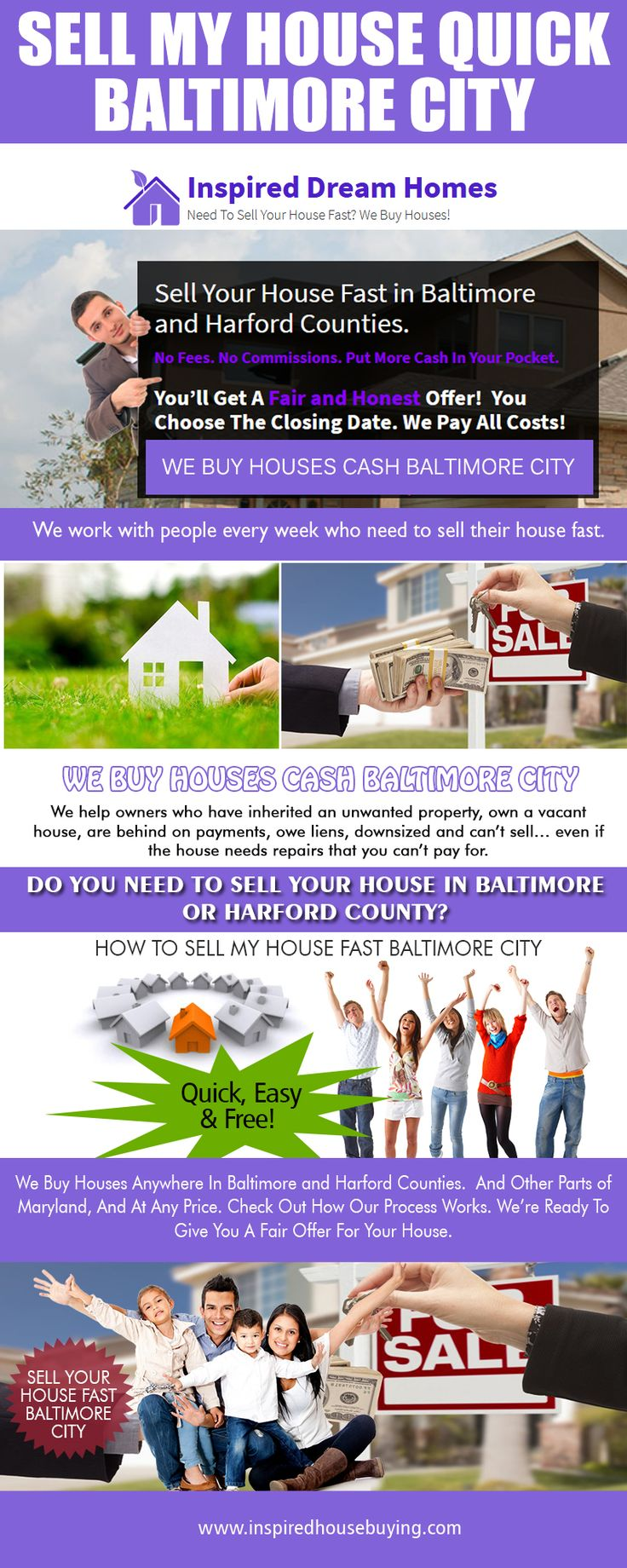Our Website: http://www.inspiredhousebuying.com/ We Buy Houses Cash Baltimore County from house owners, purchase their restoration and also refurbishment, after that turn and sell the same properties to other individuals at a profit. There is absolutely nothing incorrect with this kind of service - it operates the free enterprise system and nobody deludes any person. People that need cash loan quickly benefit from selling their residences and real estate homes to the financiers.