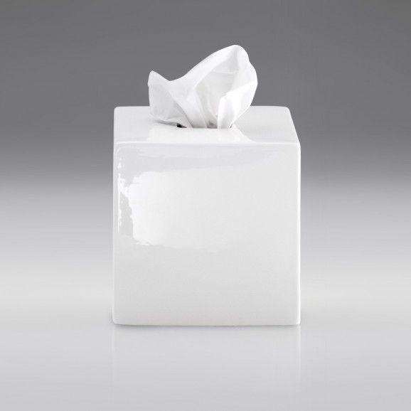 Boîte à mouchoirs en céramique blanche KB 89 Decor Walther