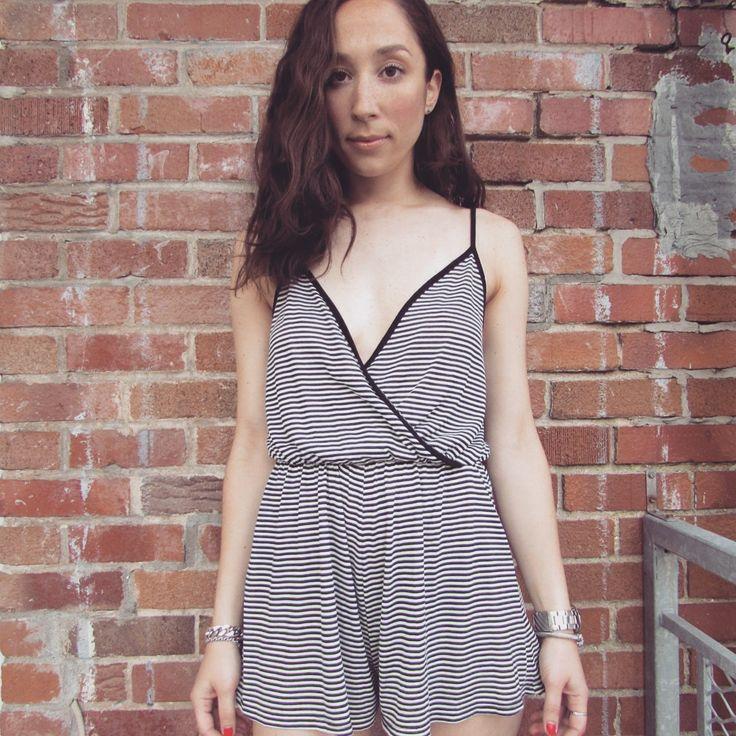 one-piece affair($24.98) #republiquecollection #fashion #trend #romper #onepiece #jumpsuit #stripes #summerfashion