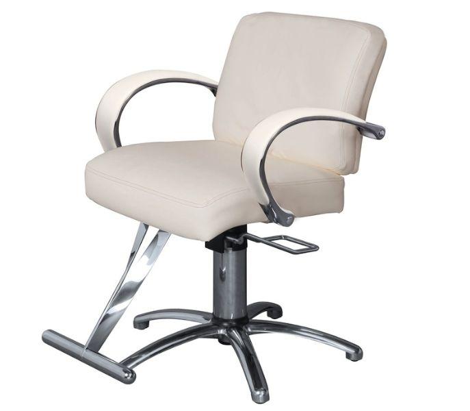 Salon Styling Chair - Kaemark Sophia Styling Chair with Metal Arms #salon #saloninspo #salonideas #stylingchair #salonchair