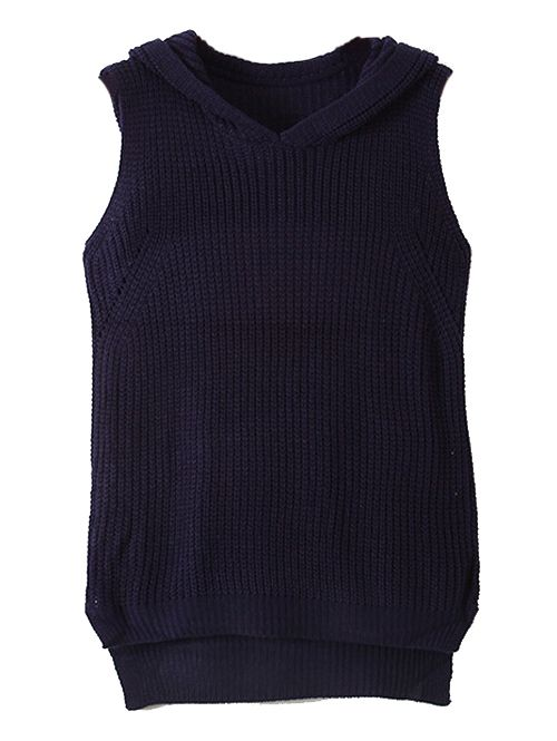 Wholesale Cute solid sleeveless with hat design knitting vest MS-P1597 - Lovely Fashion