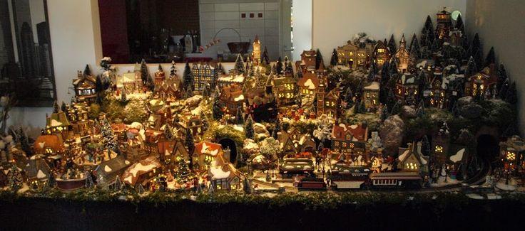 124 Best Christmas VILLAGE Display Ideas Images On Pinterest